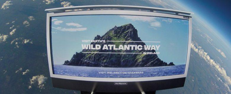 Ierland lanceert de eerste toeristische campagne in de ruimte