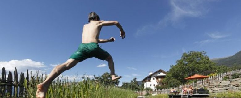 Zwempret voor het hele gezin op een Roter Hahn boerderijvakantie