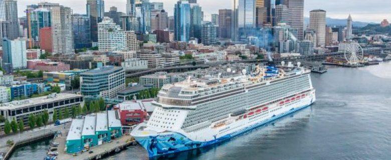 Norwegian Bliss schrijft historie als 'grootste schip ooit gedoopt in Seattle'